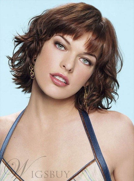 Youthful Short Curly Bob Hairstyle Capless 100% Human Hair Wig 10 Inches