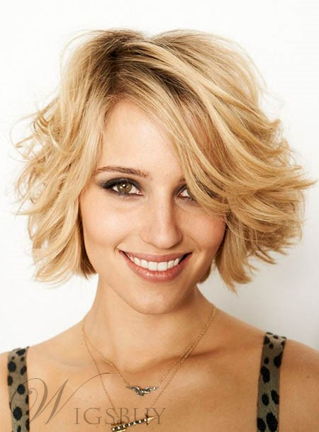 Attractive Short Loose Wave Bob Hairstyle Lace Front Human Hair Wig 10 Inches