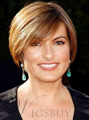 Short Straight Full Lace Human Hair Wigs for Older Women