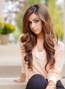 Graceful Long Deep Wave Lace Front Human Hair Wig 24 Inches