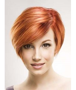 Chic Fashionable Short Straight Monofilament Top Synthetic Wig