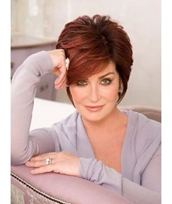 Top Quality Short Layered Straight Full Lace Human Hair Wig
