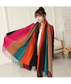 Fashionable Striped Wool Scarf