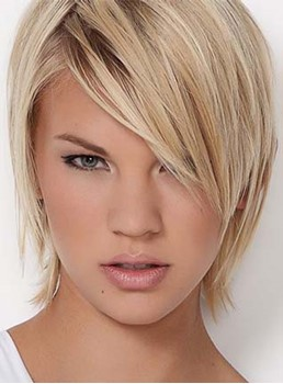 Attractive Short Straight Lace Front Synthetic Wig 8 Inches