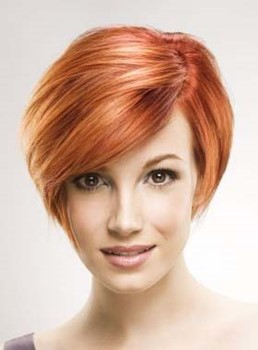 Short Straight Monofilament Top Synthetic Wigs