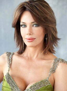 Graceful Medium Layered Straight Lace Front Human Hair Wig 12 Inches