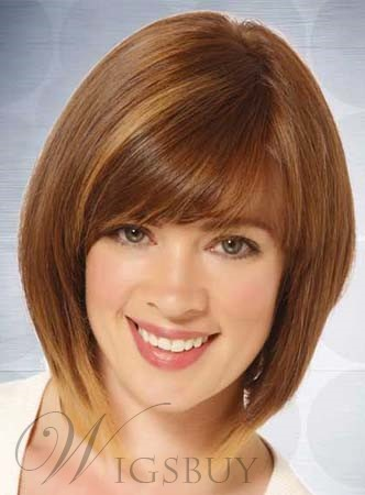 New Arrival Medium Straight Capless Human Hair Wig 12 Inches