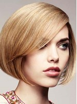 Short Straight Monofilament Top Human Hair Wigs 8 Inches