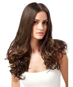 Glamorous Long Bottom Curly Lace Front Human Hair Wig 24 Inches