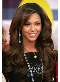 Beyonce Elegant Long Loose Wave Lace Front Synthetic Wigs 18 Inches