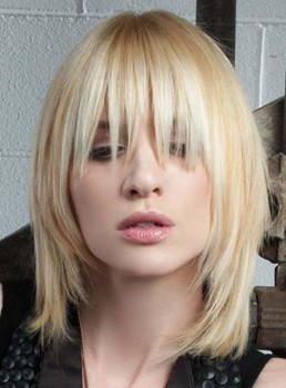 Stylish Medium Straight Synthetic Wig 12 Inches