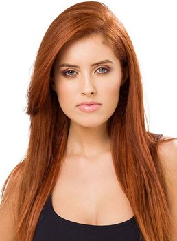 Graceful Long Layered Straight Lace Front Human Hair Wig 18 Inches