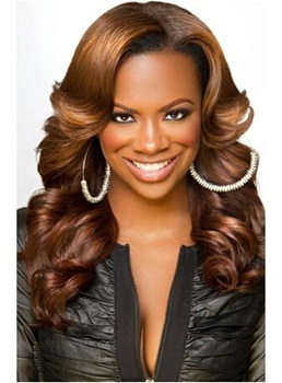 Gorgeous Classical Loose Wave Hairstyle 150% Density Synthetic Hair Lace Front Wig 18 Inches