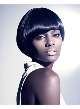 Mushroom Hair Straight Bob Hair Style Smooth Capless Synthetic Wigs for African American Women