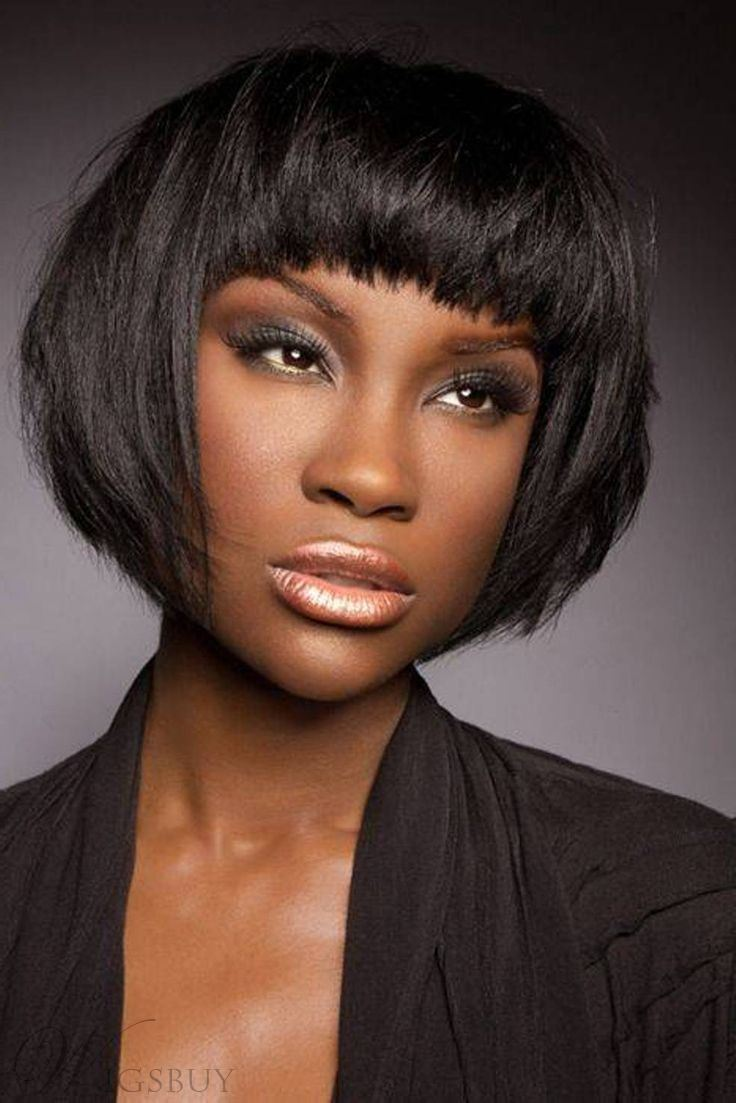 chic professional custom african american bob hairstyle