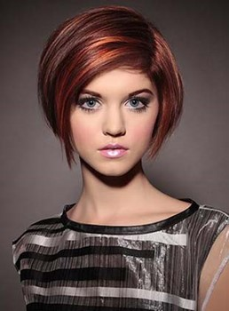 Enchanting Short Straight Monofilament Top 100% Human Hair Wig