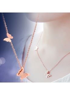 New Fashion Butterfly Pendant Necklace for Girls