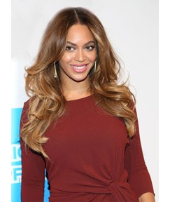Beyonce Long Loose Wave Lace Front Human Hair Wigs 18 Inches