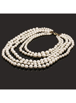 New Luxury Style Multi-layer Pearl Necklace for Women