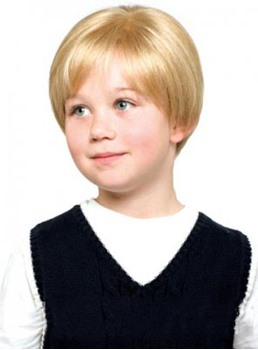 New Arrival Short Straight Lace Front 100% Human Hair Wig for Kids