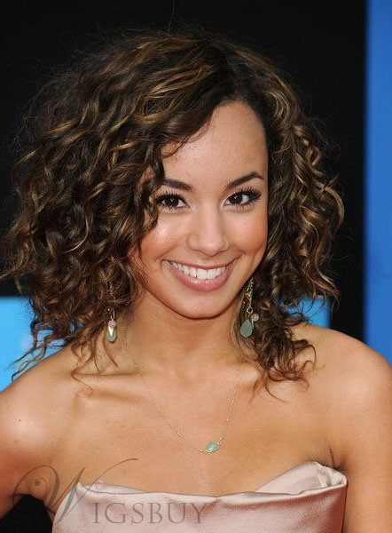Youthful High Quality Attractive Medium Curly 100% Human Hair Lace Front Wigs 12 Inches 11296401