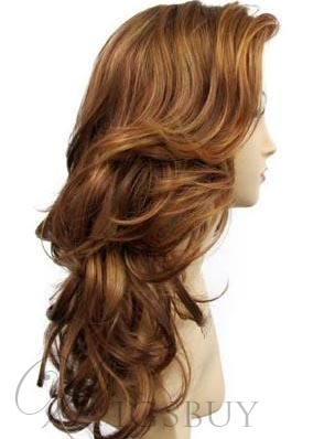 New Arrival Long Deep Layered Wave Lace Front Synthetic Wig 24 Inches