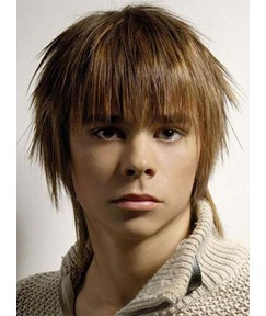 New Arrival Handsome Short Layered Straight Capless Human Hair Wig 8 Inches