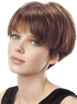 Stylish Short Straight Full Lace Human Hair Wig