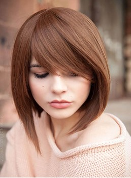 Lovely Medium Straight Capless Human Hair Wig