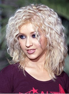 Attractive Sexy Medium Curly Lace Front Human Hair Wig 16 Inches