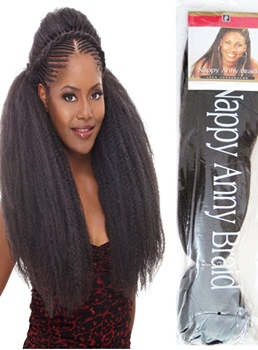 Fashion Yaki Braid Hair for Afro Women 24 Inches