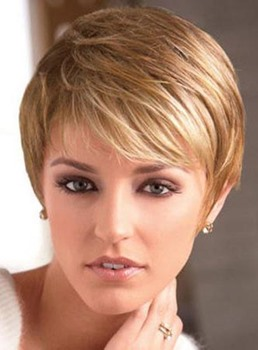 Chic Short Straight Capless Human Hair Wig 6 Inches
