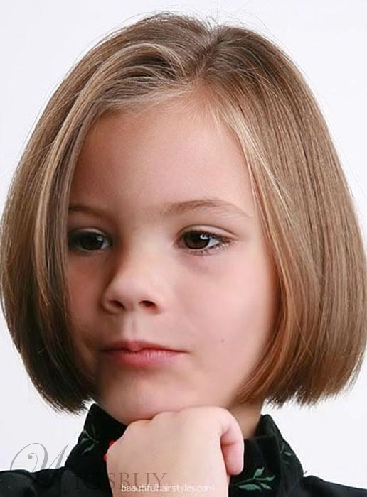 Top Quality Short Straight Lace Front Human Hair Wig for Kids 10 Inches