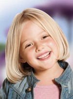 Lovely Short Straight Lace Front Human Hair Wig 10 Inches for Kids