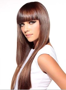 Graceful Long Straight Capless Synthetic Wig 24 Inches