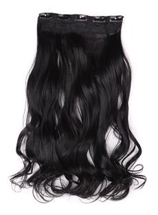 Jet Black (#1) Instant One Piece Body Wave Human Hair Clip In Hair Extension