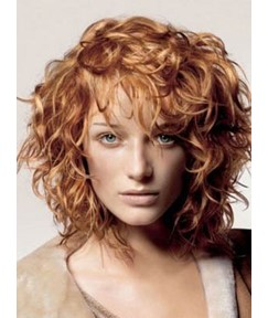 Best Quality Medium Curly Capless Human Hair Wig 12 Inches