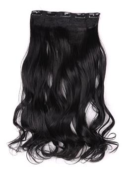 Jet Black (#1) istantanea One Piece corpo Wave capelli umani Clip In Hair Extension