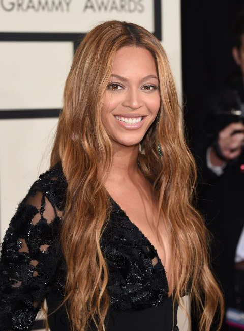 Beyonce Synthetic Long Loose Wave Lace Front Wigs 22 Inches