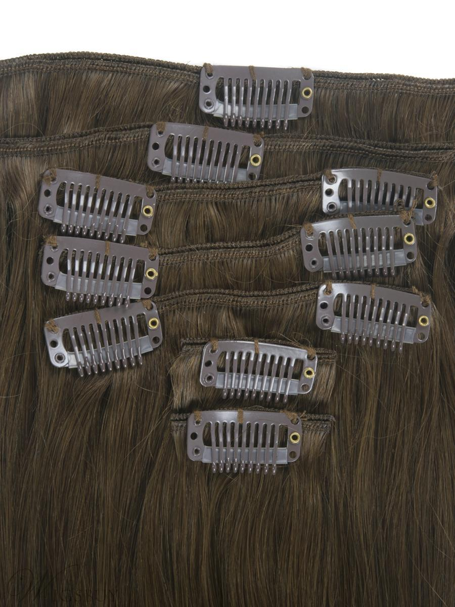 7 Piece Silky Straight Clip In Human Hair Extension