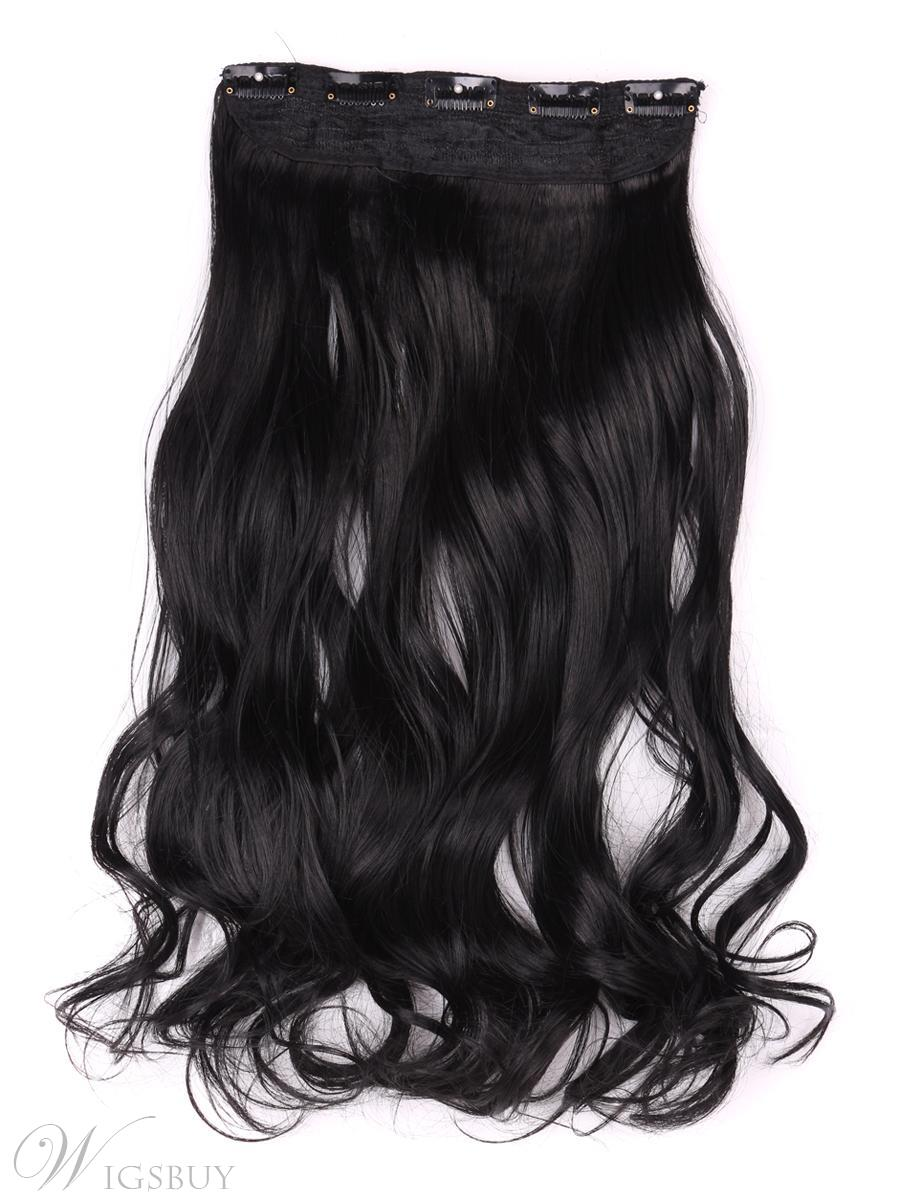 Jet Black 1 Instant One Piece Body Wave Human Hair Clip In Hair