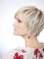 Pixie Attractive Short Straight Monofilament Top Human Hair Wig 8 Inches