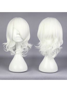 Juzo Suzuya Medium Curly White Cosplay Wig