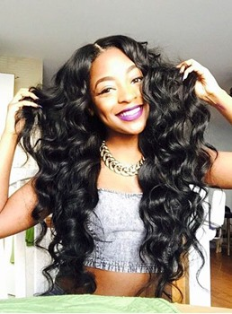 Human Hair Weave African American Deep Wave India Human Hair Extensions 1pc