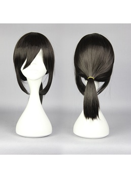 Medium Straight Black Cosplay Wig