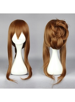 Long Straight Brown Cosplay Wig