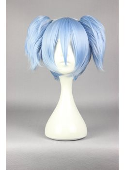 Shiota Nagisa Short Straight Ice Blue Cosplay Wig