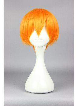 Hoshizora Rin Short Straight Orange Cosplay Wig