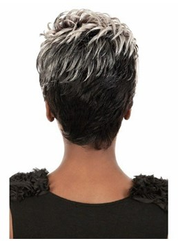 Smart Short Layered Black Women Synthetic Wigs