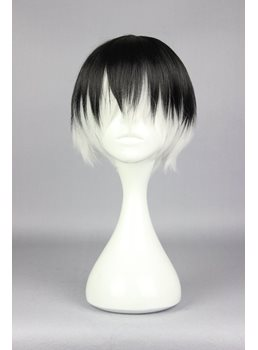 Kaneki Ken Short Straight Mixed Color Cosplay Wig